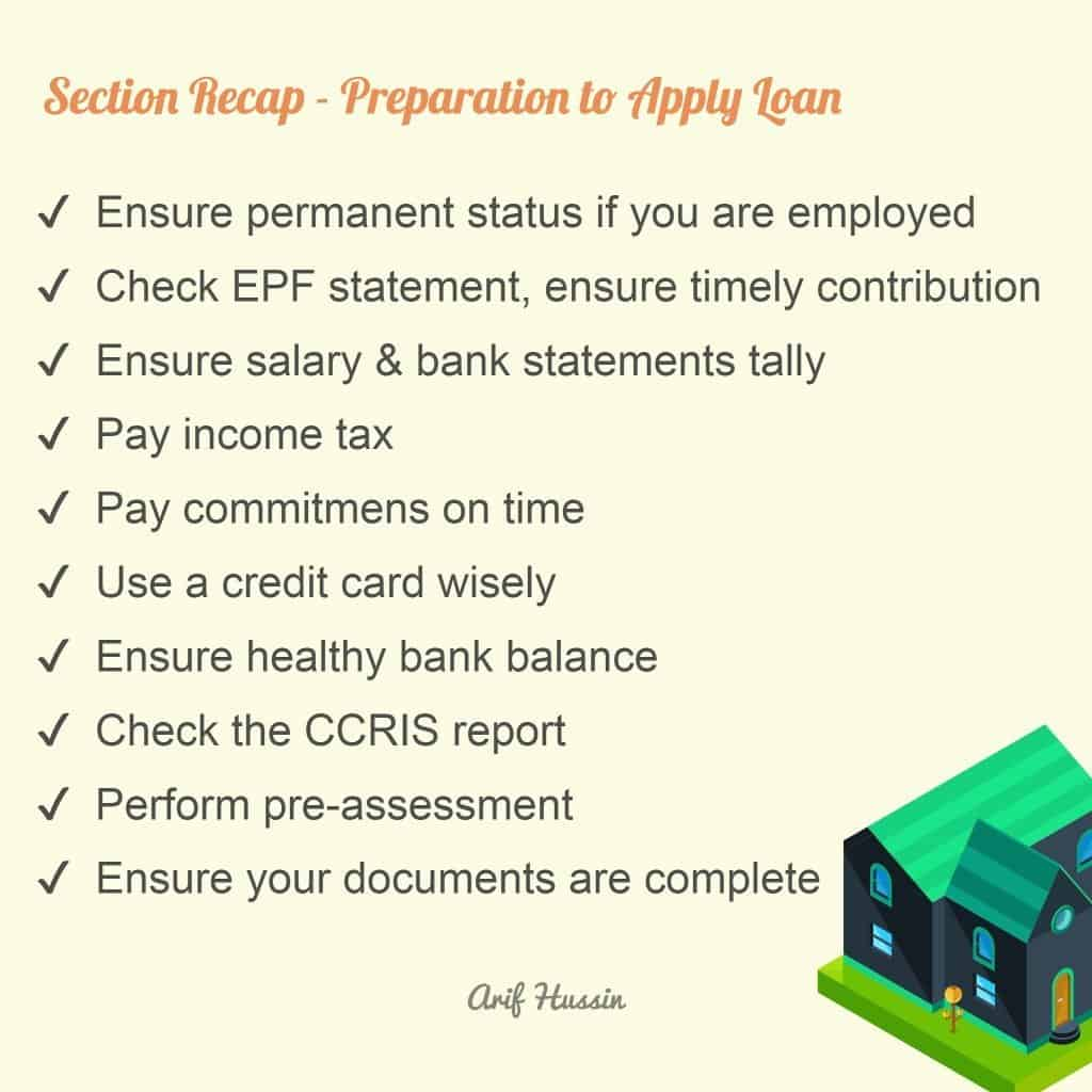 preparation to apply a housing loan