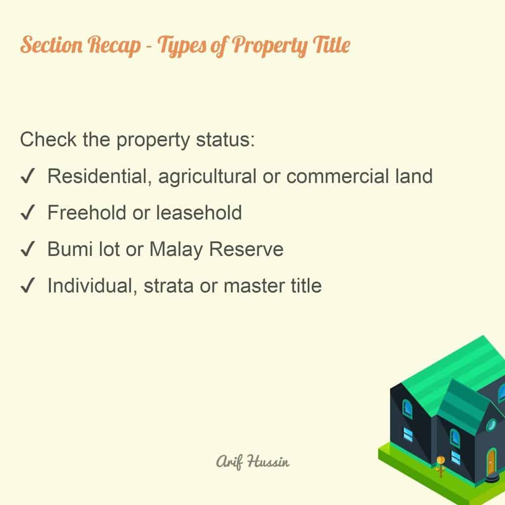types of property title